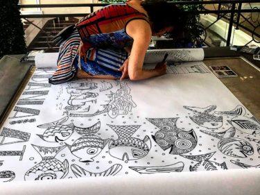 IMG 7291 375x281 - MARCO POLO Reise dargestellt durch eine 50 meter lange Doodle-Zeichnung!